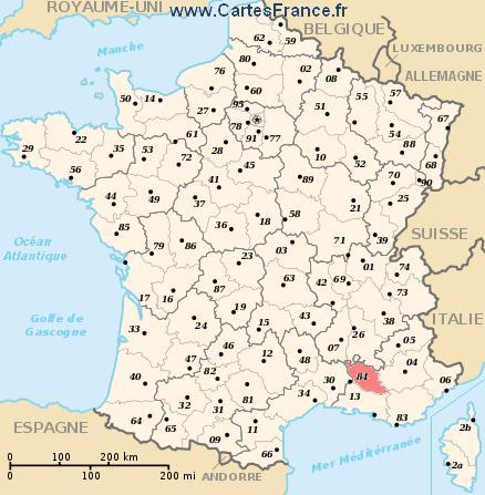 84 vaucluse carte de france