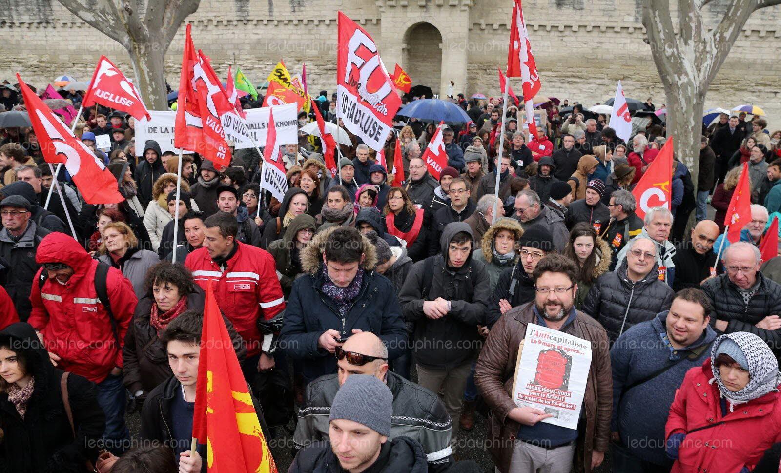 manifestation avignon 9 mars
