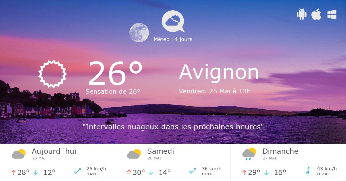 meteo avignon n 5 jours