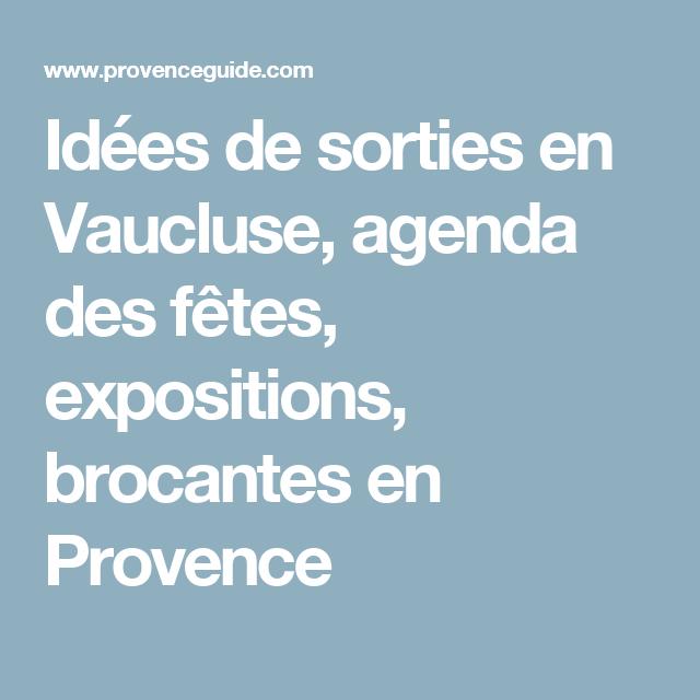 vaucluse agenda
